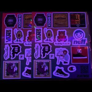 Limited Edition Zumiez Skateboarding Stickers